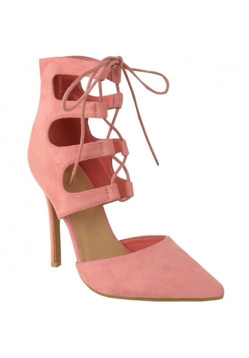 CANDY PINK LACE UP SHOES
