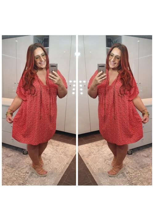BOHEMIAN DREAM SMOCK DRESS - RED