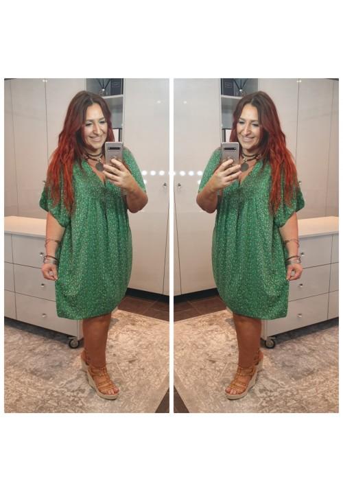 BOHEMIAN DREAM SMOCK DRESS - APPLE GREEN