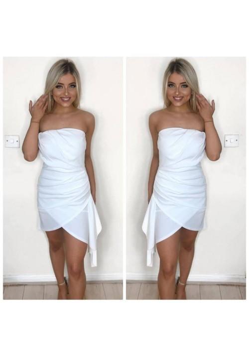 LANA LAYERED BUSTIER DRESS - WHITE