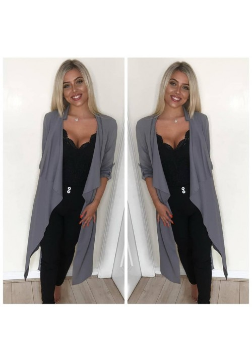AVA DUSTER JACKET - GREY