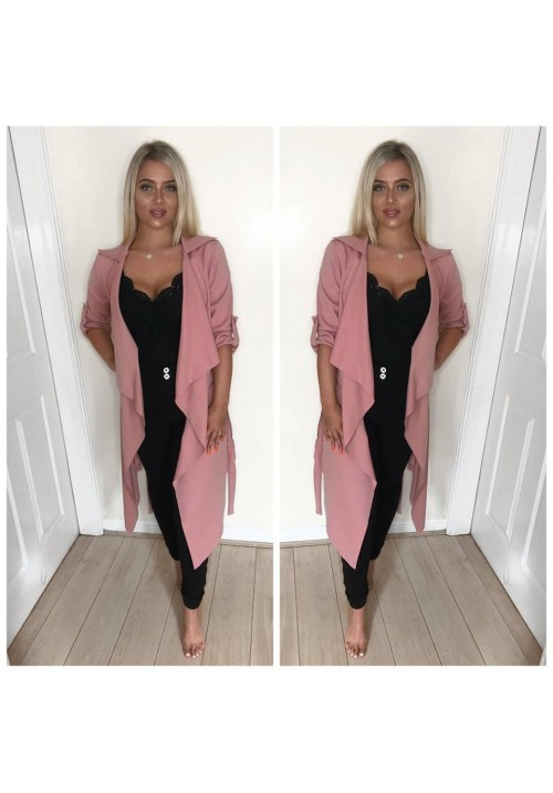 AVA DUSTER JACKET - NUDE PINK