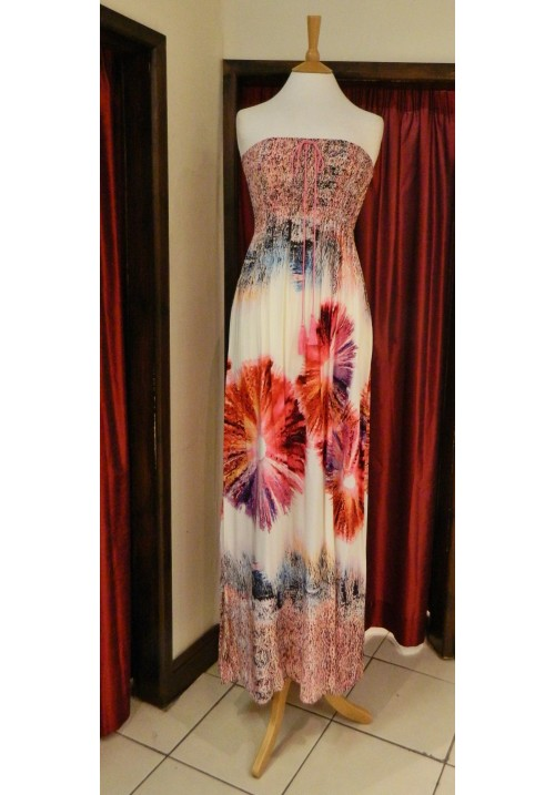 BIG FLOWER MAXI DRESS