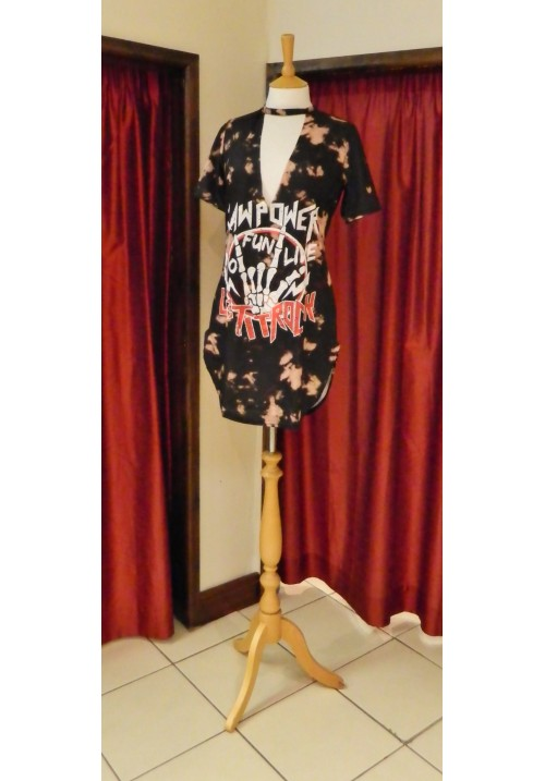 AMBER TIE DYE CHOKER T-SHIRT DRESS