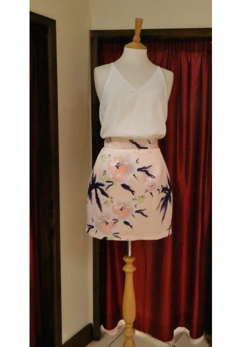 AVRIL NUDE FLORAL 2 IN 1 LOOK DRESS
