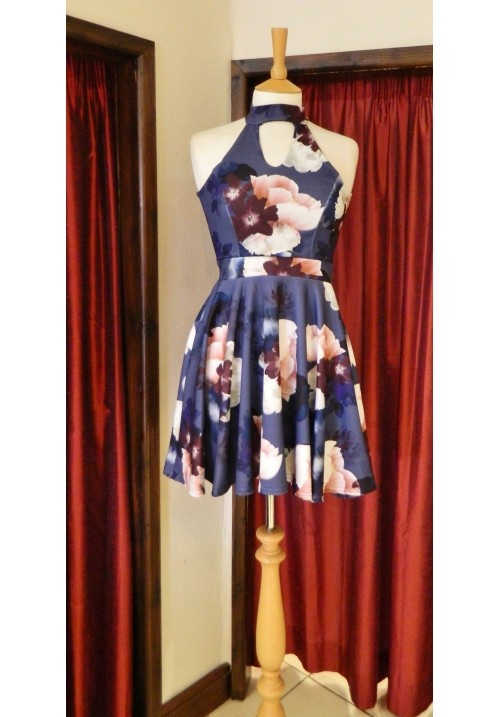 A SECRET WISH SKATER DRESS NAVY