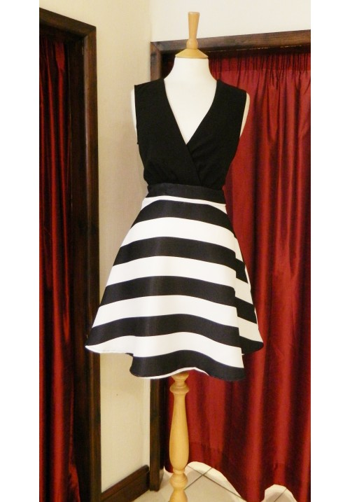 ARIEL MONOCHROME SKATER DRESS