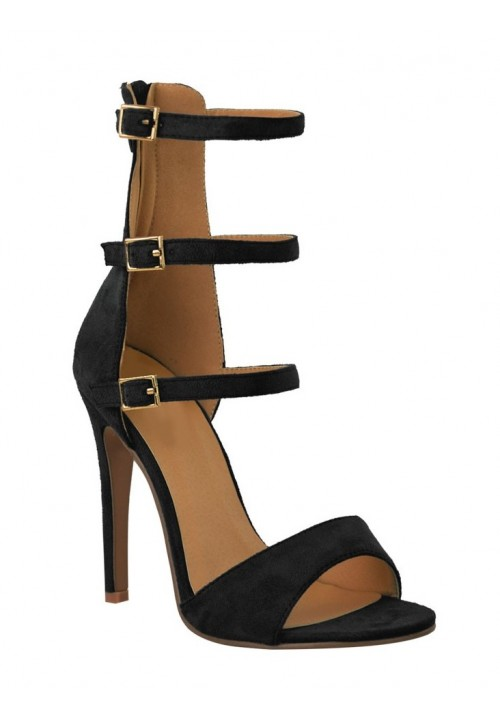 CALLY 3 STRAP BLACK SHOES