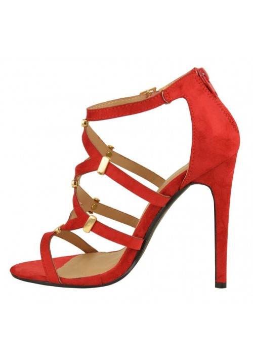 ARIANA RED CUT OUT SHOES